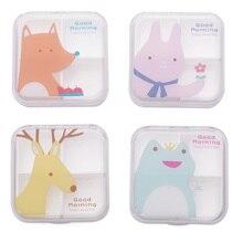 Portable Mini Cartoon Plastic Pill Box Medicine Case For Healthy Care Empty Drugs Box For False Eyelashes