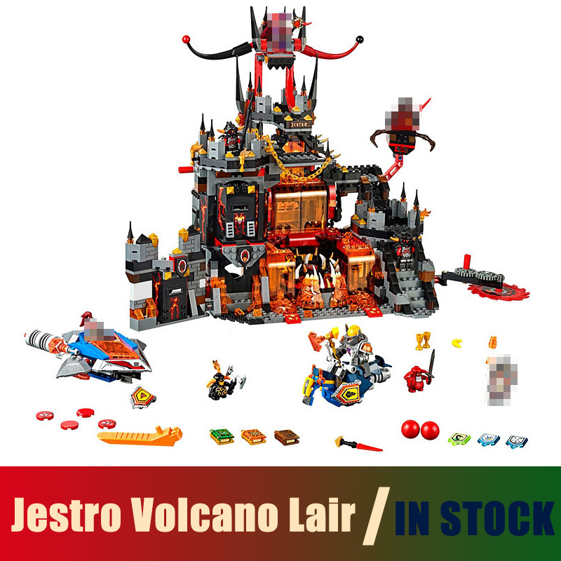 Compatible Lego nexoe knights 70323 Models Building Toy Jestro Volcano Lair 1237pcs 10521 Building Blocks Toys & Hobbies 14019 nexoe knights volcano lair castle model building kits compatible with lego city 3d blocks educational toys