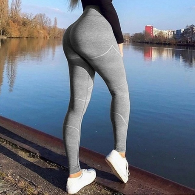 851ce1dc5d85dd CALOFE Women Yoga Pants Sports Running Sportswear Stretchy Fitness Leggings  Seamless Tummy Control Gym Compression Tights Pants