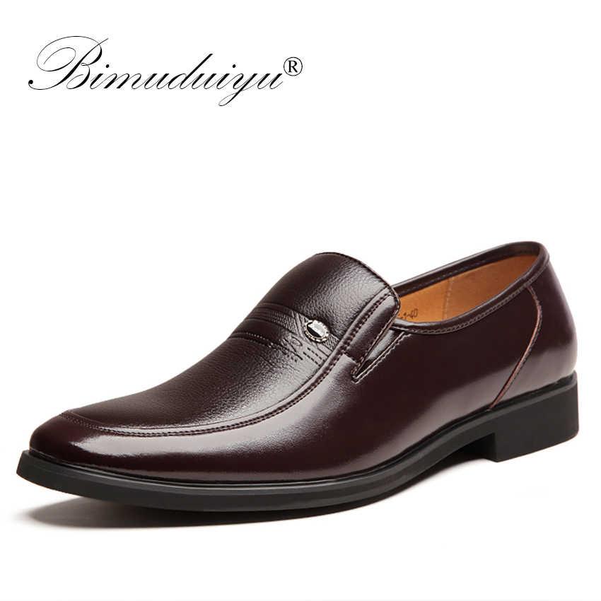 81f3fe06 BIMUDUIYU hombres Formal zapatos de boda, zapatos de lujo de los hombres de  negocios Zapatos