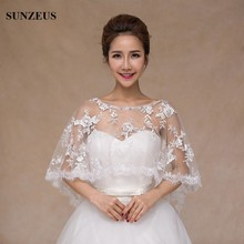 Beaded Neck Lace Pernikahan Wraps untuk Bridal Pernikahan Bolero Merah / Putih Gadis Wedding Dress Aksesoris S460
