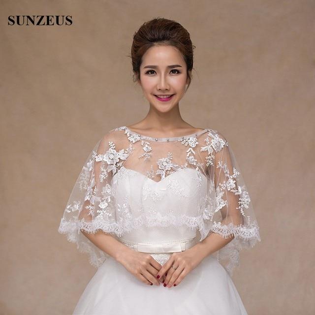 Beaded Neck Lace Wedding Wraps For Bridal Wedding Bolero Redwhite