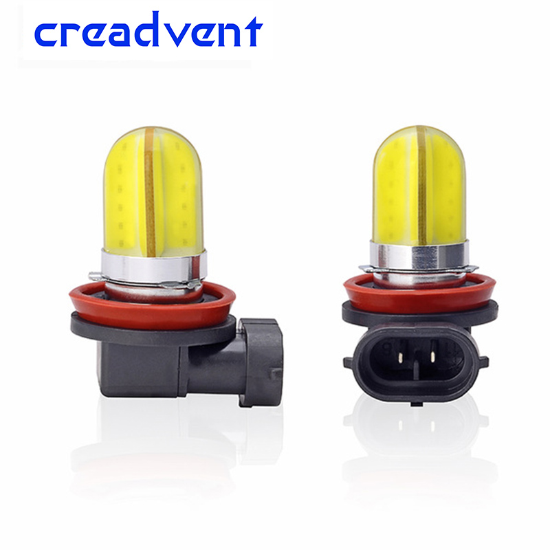2pcs 2018 newest led H11 9005 hb3 9006 hb4 h8 h9 led car light fog lamp drl daytime running light cob white 12v