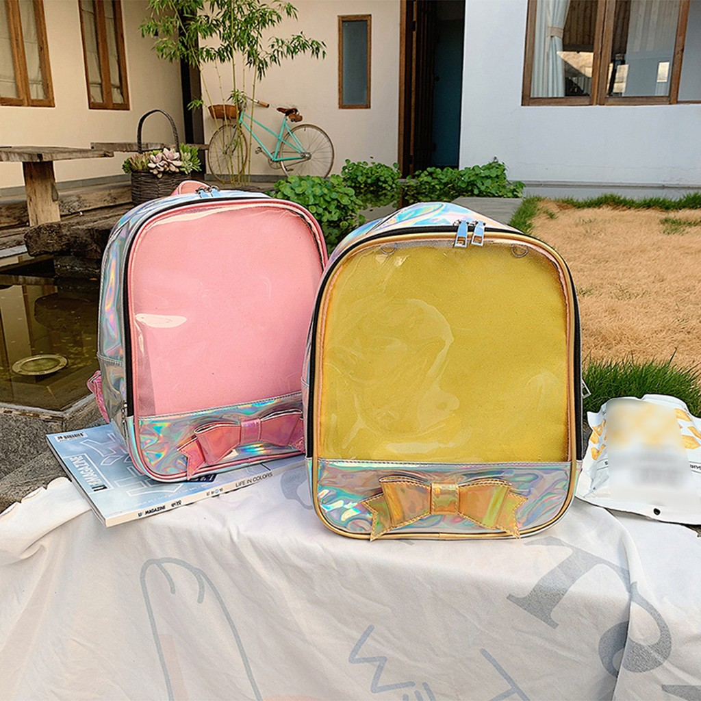 Ita Bags Clear Backpack Women Transparent Cute Bow Mini Backpack  For School Pink Schoolbags For Teenage Girls Mochila 2019