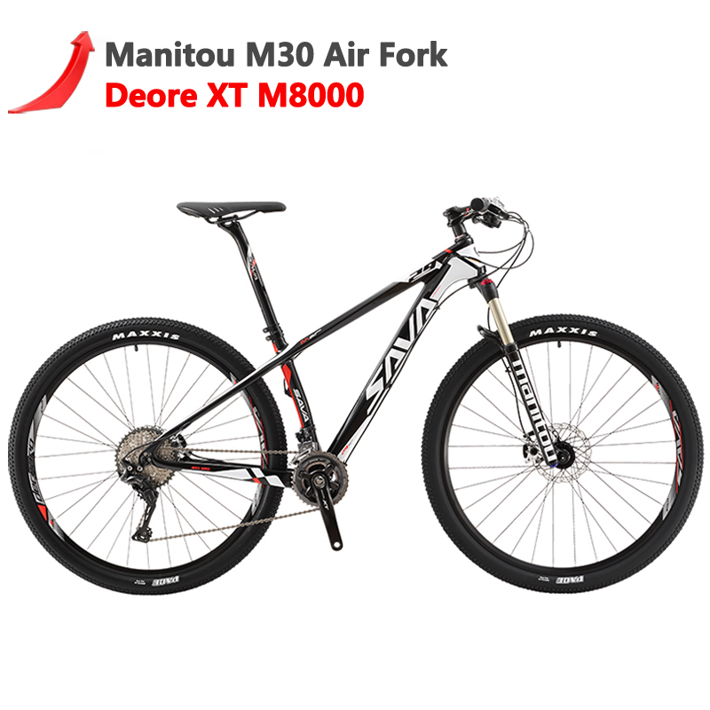 SAVA Mtb Bicycle Mountainbike M8000-Bikes Carbon-Fiber Shimano Xt DECK700 Men with 29