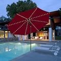 Пляжный зонтик тент свет 104LED на солнечных батареях медная проволока светодиодная гирлянда наружный подвесной зонтик садовый патио лампа о...