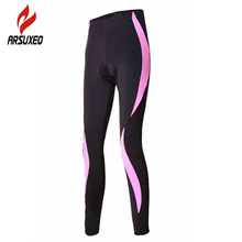 ARSUXEO Women Outdoor Sports Cycling Bike Tights Clothing Compression Bicycle Pants 3D Coolmax Silicone Gel Padded Leggings