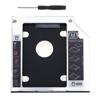 De aluminio Universal 2nd HDD Caddy 9,5mm SATA 3,0 indicador LED para 2,5 pulgadas 7mm 9mm HDD SSD caja para portátil CD-ROM