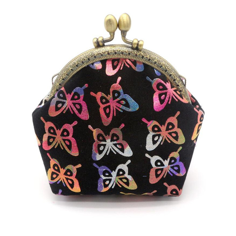 Cute Pouch Womens Lady Retro Vintage Butterfly Small Wallet Hasp Purse Clutch Bag coin purse women carteira