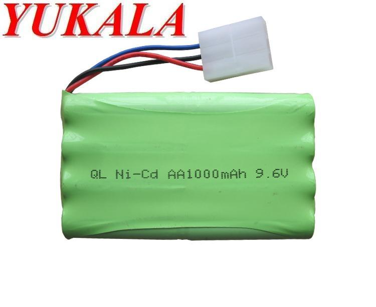 YUKALA 2050 2054 2060 2053 2020 RC car RC boat RC tank 9.6V 1000mAh N-CD AA Battery Free shipping yukala ft012 2 4g rc racing boat hq734 rc car 11 1v 2700 mah li polymer battery