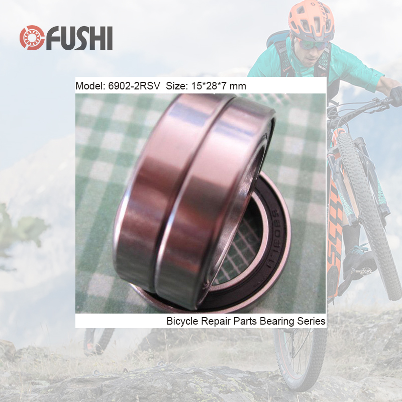 6902-2RSV MAX Bearing 15*28*7mm ( 1 PC ) Full Balls Bicycle Frame Pivot Repair Parts 6902 2RS RSV Ball Bearings 6902-2RS цена
