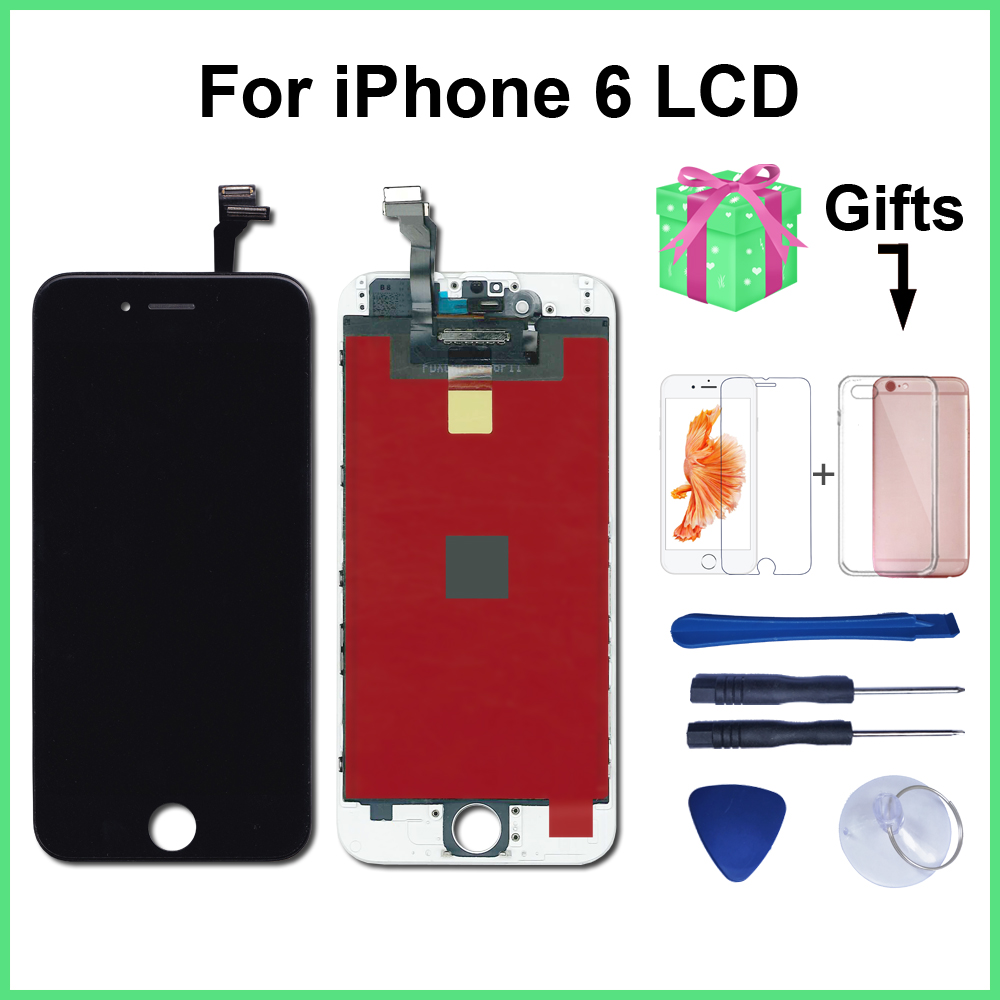 AAA+++ <font><b>Ecran</b></font> LCD Display For <font><b>iPhone</b></font> 6 Touch Screen Replacement For <font><b>iPhone</b></font> 5s 6s plus Lcd+Tempered Glass+Tools+Phone Case image