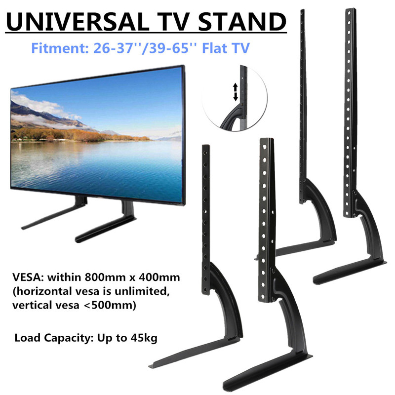 Universal Table Top TV Stand Legs for Most LED LCD Plasma Flat Screen TV 26-65 Height Adjustable Stable Stand Base Steel лыжи беговые tisa top universal с креплением цвет желтый белый черный рост 182 см
