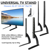Universal Table Top TV Stand Legs For Most LED LCD Plasma Flat Screen TV 26 65