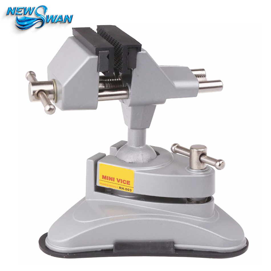 Portable Vise Bench Clamp Vise Aluminum Upscale Movable Table Vise 360 Degree Adjustable RH 003