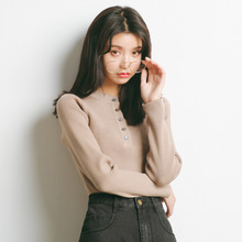 2019 autumn and winter womens new long-sleeved sweater sets of sweaters women Korean high-necked M25