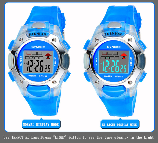 Children Watches For Kids LED Digital Double Action Wrist Sports Watch Boys Girl