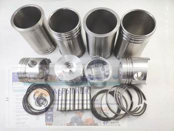 Set of piston, piston rings, cylinder liners, piston pins, circlip, seals for Laidong Kama series 4TE40 engine use, part number: