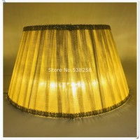 E27 modern Lamp shade for table lamp solid color Pattern lace Textile Fabrics Decorative gold/silver lamp shade