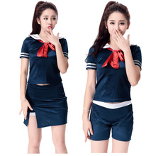 ca0eecab19900 Womens Sexy Sailor Fancy Dress Costume Ladies Navy Uniform Sailor Pin Up  Outfit(China)