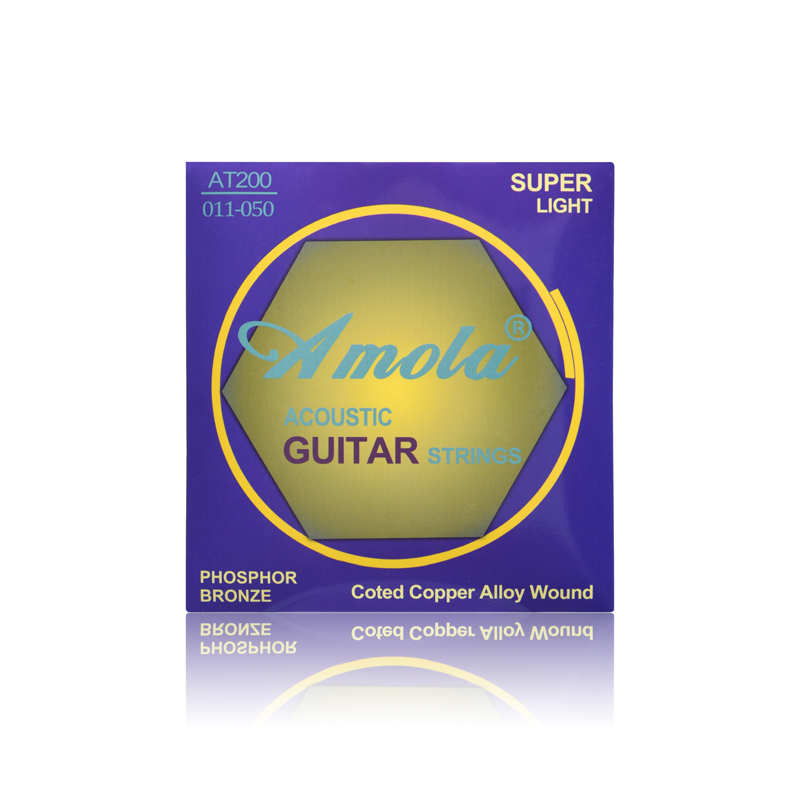 Acoustic Guitar Strings Amola Professional Strings series AT200 011-050 Pure Copper Wound Guitar Strings