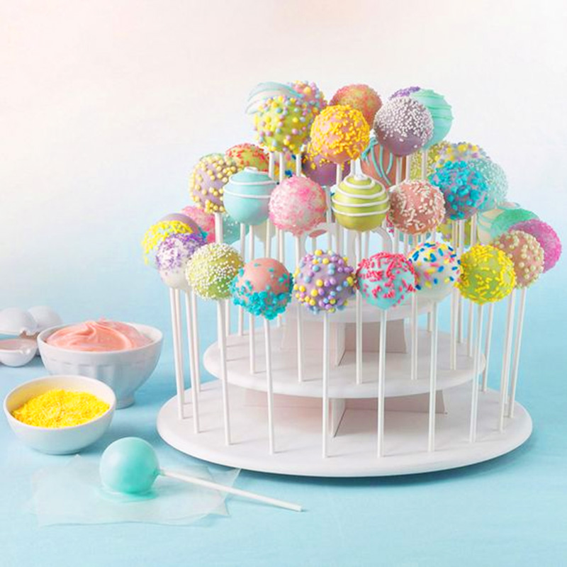 3 Tiers Lollipop Cake Stand Wedding Decoration Donut Wall Lolly Display Stand Holder Baby Shower Birthday Party Dessert Supplies
