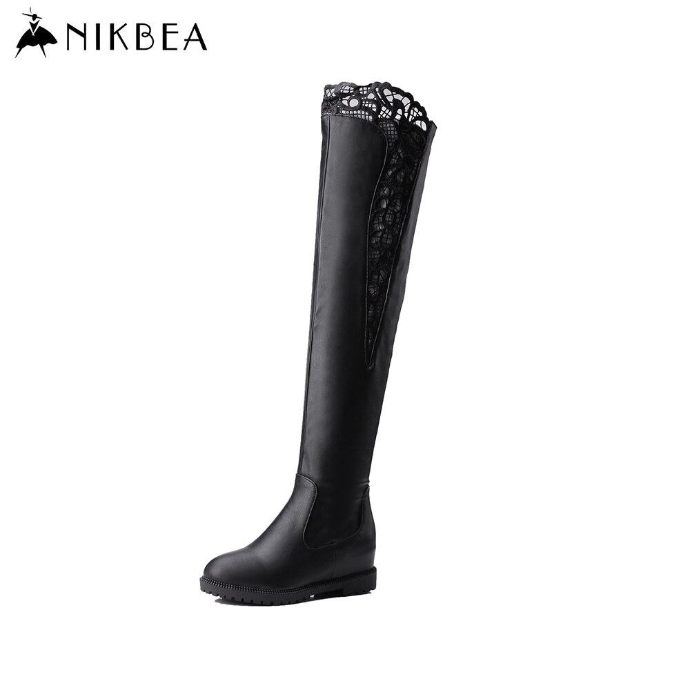 aliexpress buy nikbea black the knee thigh high