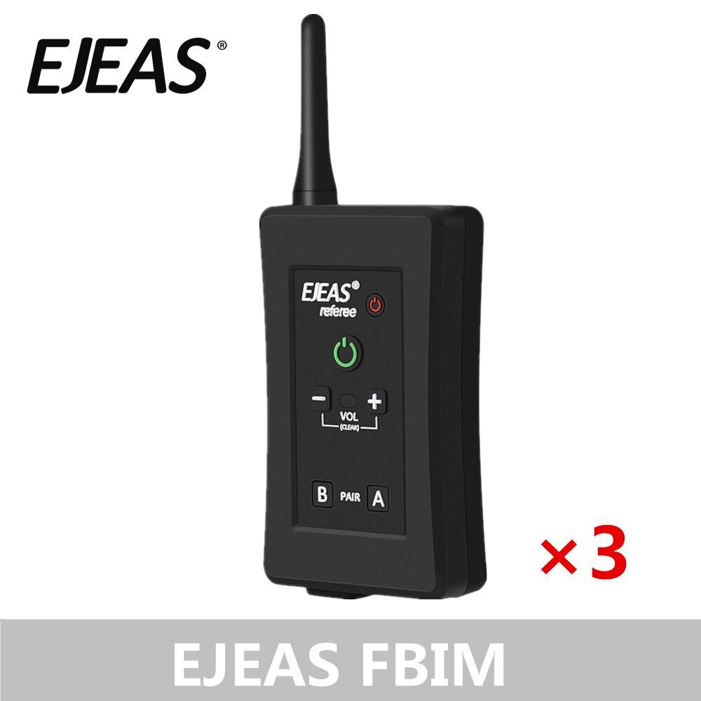 3 Pack EJEAS FBIM casque d'arbitre Bluetooth à quatre voies avec étui de brassard 1.2Km étanche pour les entraîneurs de Football