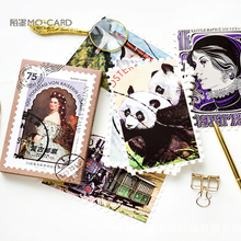 30 Pcs/lot Cute Vintage Stamp Birthday postcard set Greeting Card Envelope Gift DIY gifts