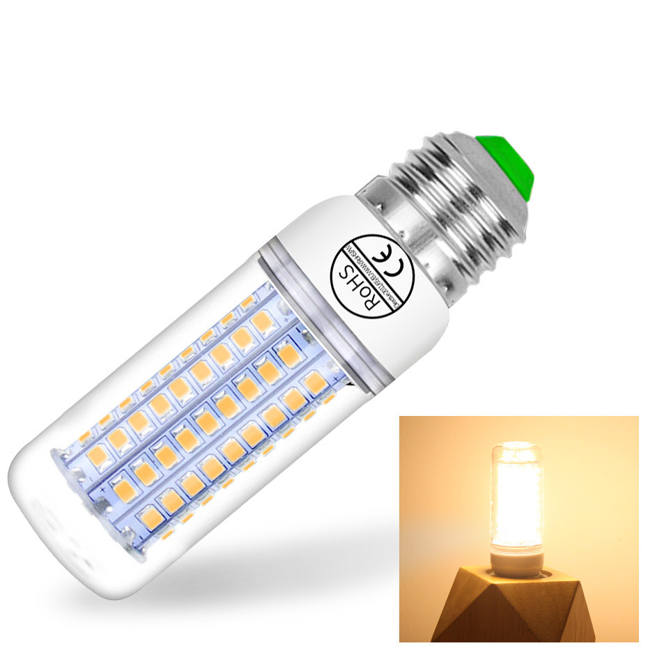 E27 E14 Led Lamp 5730SMD 220V Corn Light Lampe 24/36/48/56/69/72LEDs Led Bulb For Chandelier Candle Lighting Warm Cold White