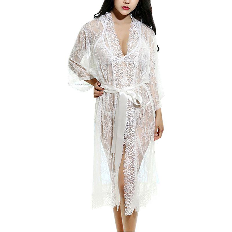 Sexy Spitze Nachthemd Pyjamas Transparente Schlaf Tops Stickerei Handwerk Schlafen Rock Frauens Kleidung Auswahlmaterialien Unterwäsche & Schlafanzug