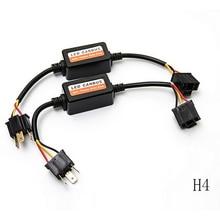 цена на 2pcs H4 H7 LED Car Light Decoder Car Fog Lights Canbus Wiring Adapter 9005 9006 H1 H8 H9 H11 Computer Warning Error Resistor