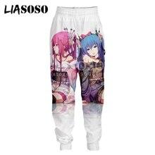 LIASOSO 3D Print Men Women Sweatpants Anime Vocaloid Hatsune