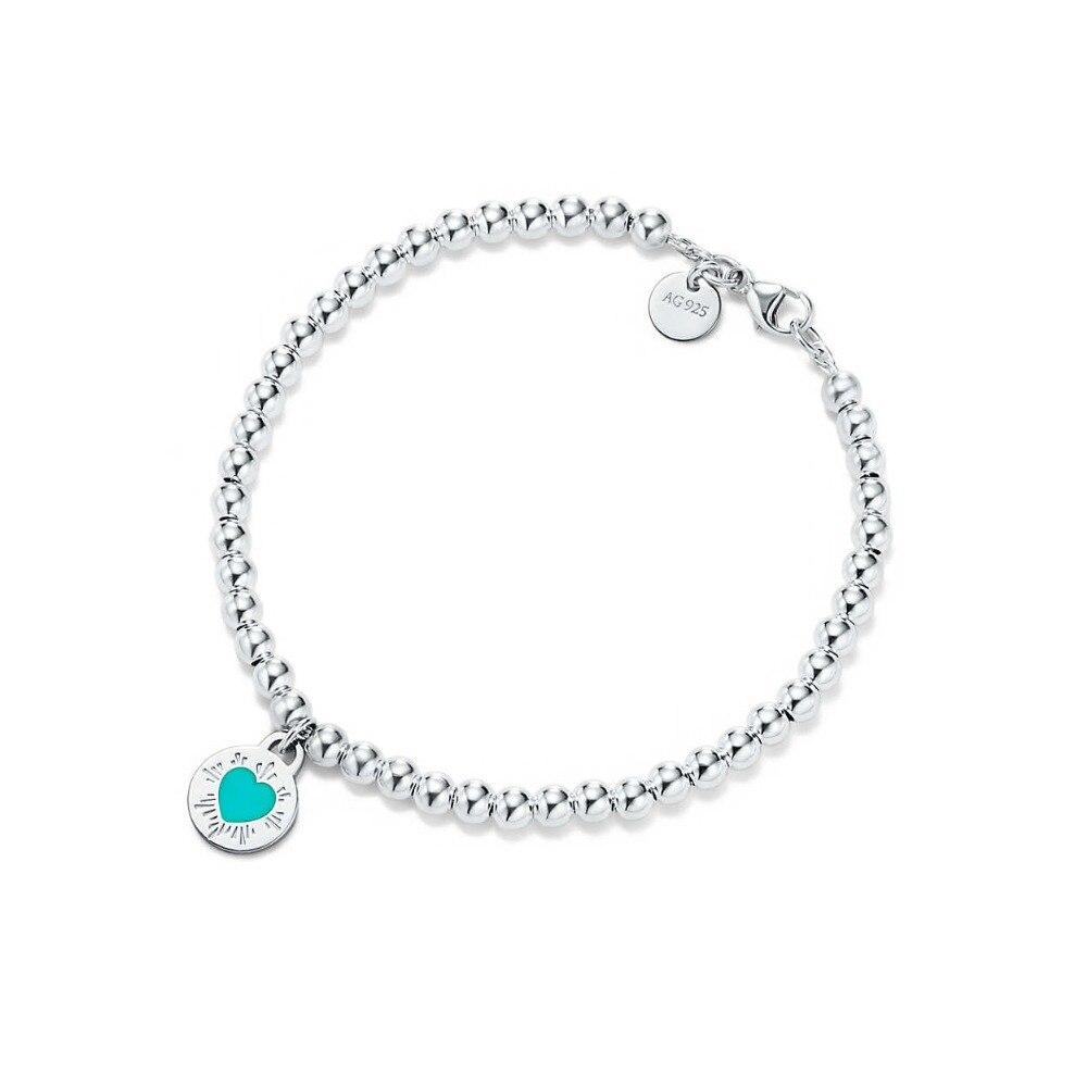 TIFF 100% стерлингового серебра 925 браслет из бисера fit DIY оригинальные украшения очарование дамы jewelrys подарки на день рождения