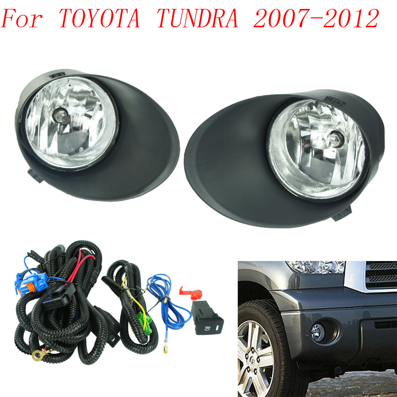 Fog Light For Toyota Tundra 2007 2008 2009 2010 2017 Lamps Clear Lens Per Lights Driving Daytime Running In Car Embly From