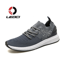 Men Lightweight Running Shoes Breathable Sock Outdoor Sports Shoes Mesh Traveling Comfortable Walking Shoes Zapatos Hombre