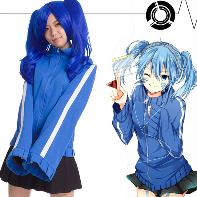 Kagerou Project Mekaku City Actors Ene Takane Enomoto Hoodie + Skirt cosplay Jacket Uniform Cosplay costume