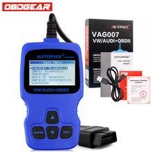 Autophix VAG007 Herramientas de Diagnóstico Para Audi VW Passat Polo Golf Skoda Lector de Código de ABS Airbag SRS Serivce ODB OBD2 escáner
