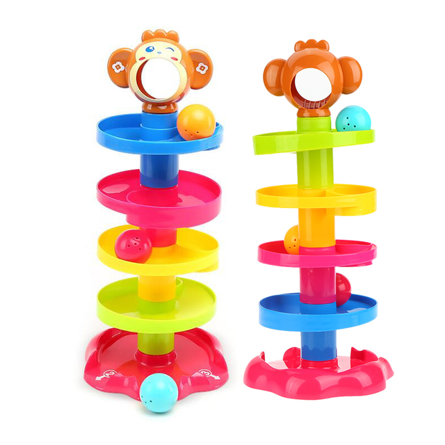 Popular Baby Toys Tower Puzzle Rolling Ball Bell Stackers Kids Toys  Developmental Educational Toy Rolling Ball for Children 7abeaa18d009