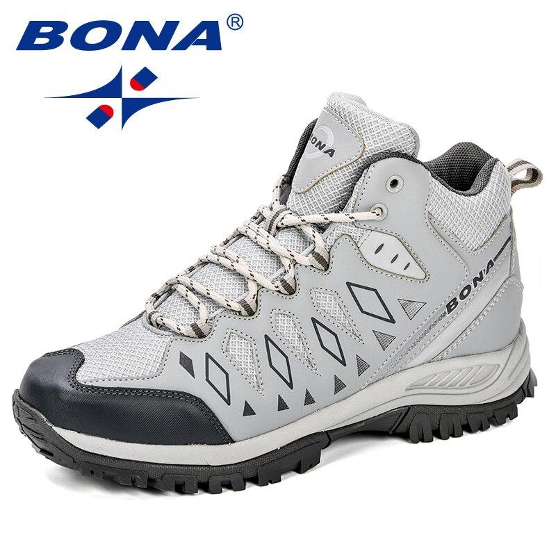 BONA nouveau Design hommes chaussures montagne grande taille marque chaussures hommes Anti-glissant chaussures de randonnée confortable hommes chaussures de Jogging en plein air - 2