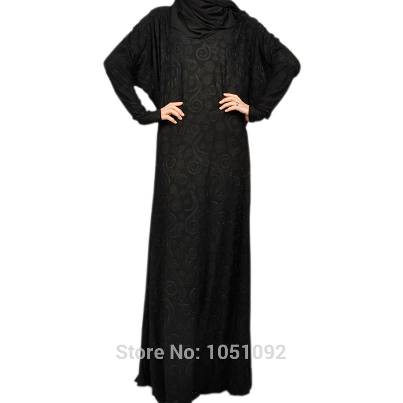 Traditional & Cultural Wear Ingenious 1pc Plus Size Abayas Traditional Islam Clothing Crystal Embossed Linen Fabric Women Islamic Dress Black Abaya For Sale Kj-150402 Diversified Latest Designs