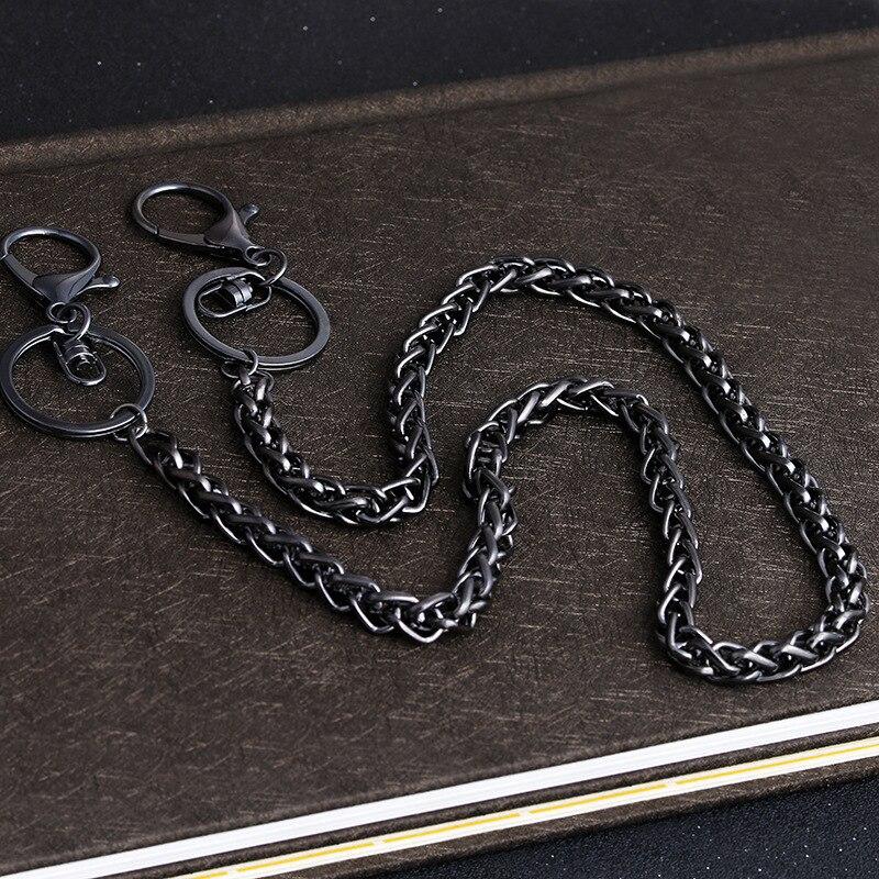 Trouser Belt Pant Jeans Chain Key Fashion Wallet Safety Holder Long Metal Split Ring Keyring Jewelry Clip YLM9193