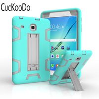 3 In 1 Hybrid Armor Shockproof Full Body Protective Kickstand Case For Samsung Galaxy Tab E