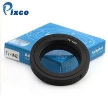 Pixco T2 to M42 Montaj Adaptörü Halka Için Uygun T2 T Dağı Lens M42 Evrensel vidalı bağlantı Kamera