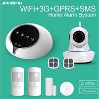 3G WIFI GPRS SMS Home Intruder Alarm System With WIFI IP Camera WIFI Security Alarm System