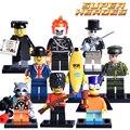 Señor lester plátano hombre joker diy figuras bloques de construcción del ejército guardia de honor ghost rider super hero ladrillos niños diy educativos juguetes