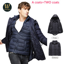 Combo  bomber Jacket Mens High Quality Autumn Winter Keep Warm Men Fashion Coat Casual Outwear Thick Down Male Jacket