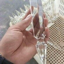 100 шт./лот, прозрачный, 200 мм кристалл меч призма, кристаллы части для люстры, хрустальные призматические капли Подвеска для люстры запчасти