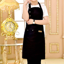 2019 New Pure Color Waterproof Aprons Cooking Kitchen Apron For Woman Men Chef Waiter Cafe Shop BBQ Hairdresser