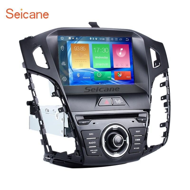 Seicane 8 pouce HD 1024*600 Android 8.0 4G Ram + 32G Rom voiture Auto Radio Stéréo GPS Lecteur de Navigation pour 2011-2013 Ford focus